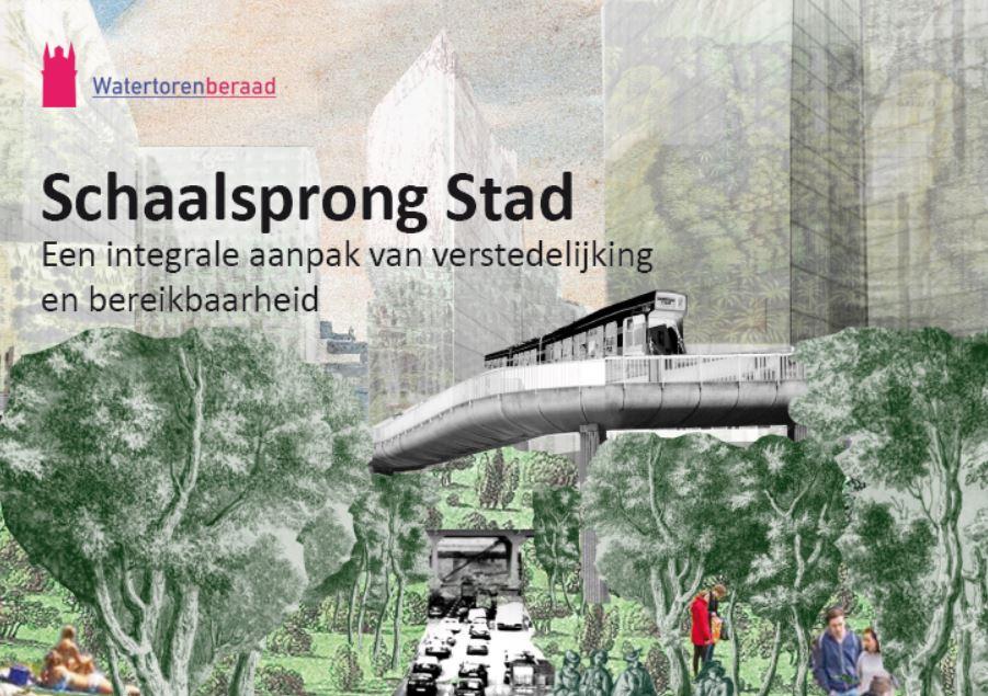 <p>Op 4 mei heeft het Watertorenberaad haar rapport 'Schaalsprong stad, een integrale aanpak van verstedelijking en bereikbaarheid' aangeboden aan Bert van Delden, plv. DG Ruimte en Wonen van het ministerie van BZK en Kees van der Burg, DG Mobiliteit van het ministerie van I&W. Met het rapport doet het Watertorenberaad […]</p>